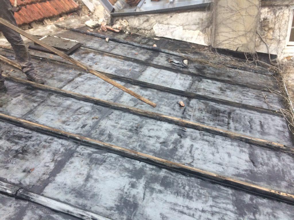 Massy : Fuite toit : zinc corrodé remplacé par un bac acier